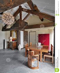 Dining Table On Entrance Of A Attic Rrom
