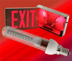 how to change an exit sign light bulb iron