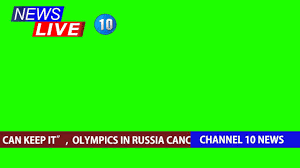 Live News Broadcast Overlay Green Screen