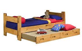 Trendwood Bunk Beds by Trendwood Bunkhouse Trundle Bed Cinnamon