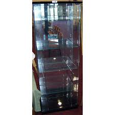 6ft 4 shelf lighted glass display cabinet