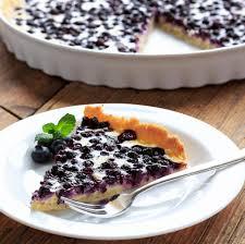 blaubeerkuchen mit quark cremiges dessert