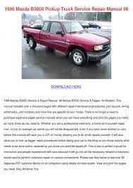 1996 Mazda B3000 Pickup Truck Service Repair By FeliciaDailey - Issuu 1996 Mazda 626 Abd Mx6 Body Electrical Troubleshooting Manual Original B2300 Se 4x2 Cab Plus 5spd Manual Wod Minor Dentscratches Damage 4f4cr12axttm30062 Miata Reviews And Rating Motor Trend B3000 For Sale At Copart Montgomery Al Lot 44979598 B2600 Pickles Pickup Truck Item E3185 Sold March 2002 Bseries Truck Regular Engine Photos Gtcarlotcom Blinghughes Plusb4000 4wd Ses Photo 86 B2000 Long Bed 95k Orig Mi 5 Speed White W4687 Bravo Dual