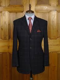 18 0290 Aquasctum London 100 Cashmere Dark Navy Blue Wp Check Sports Jacket Blazer
