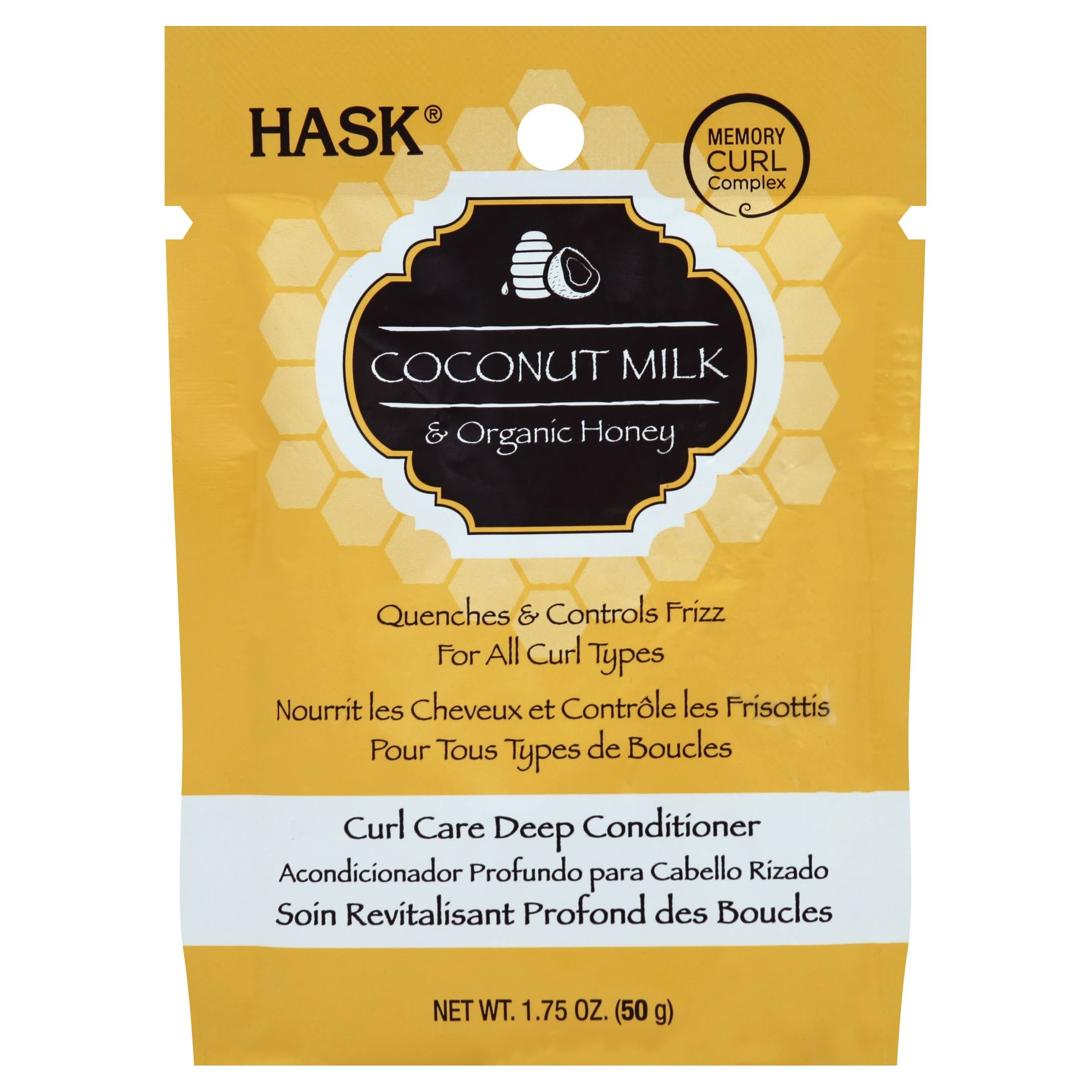 Hask Coconut Milk and Honey Curl Care Deep Conditioner - 1.75oz