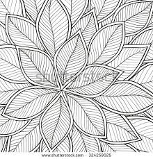 Pattern For Coloring Book Leaves Ethnic Floral Retro Doodle Tribal