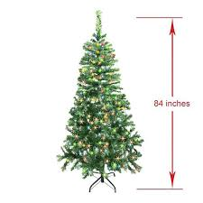 4 Foot Potted Artificial Christmas Trees Luscious Tree With Multicolored 7