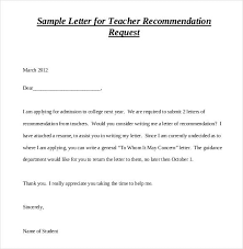 Letters of Re mendation for Teacher 28 Free Sample Example