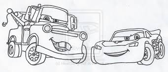 Lightning Mcqueen And Mater Coloring Pages 15 Drawing Sketch Page