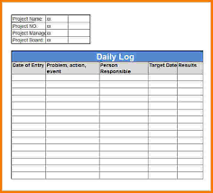 Daily Work Log Template Excel 3