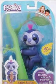 Image Is Loading AUTHENTIC WowWee Fingerlings Baby Sloth Marge Purple