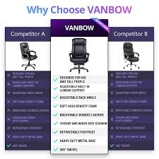 VANBOW Big And Tall Reclining Leather Office Chair - High Back Executive  Computer Desk Chair With Adjustable Built-in Lumbar Support, Angle Recline  ... Chair 31 Excelent Office Chair For Big Guys 400 Lb Capacity Office Fniture Outlet Home Chairs Heavy Duty Lift And Tall Memory Foam Commercial Without Wheels Whosale Offices Suppliers Leather Executive Fniture Desks People Desk Guide U2013 Why Extra Sturdy Eames Best Budget Gaming 2019 Cheap For Dont Buy Before Reading This By Ewin Champion Series Ergonomic Computer W Tags Baby