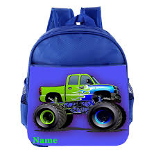 100 Monster Truck Kids Personalised Customised Toddler School Nursery