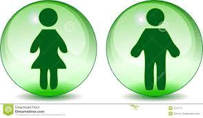 la toilette de femme d homme se connecte le globe en verre vert