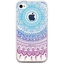 Amazon iPhone 4 Case JAHOLAN Flower Clear Edge TPU Soft Case