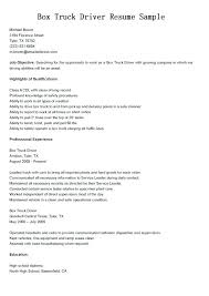 Dump Truck Driver Resume Free Template Sample Garbage