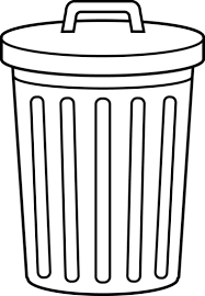 Trash can clipart 1