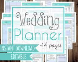 Wedding Planner DIY Binder Printables Letter Size 14 Pages