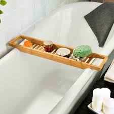 Bamboo Bathtub Caddy With Reading Rack by Amazon Com Sobuy Bamboo Bath Shelf Bath Bridge Frg18 Home