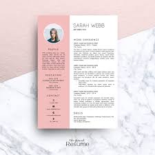 Resume Template MS Word Sarah Resume Templates Creative Market