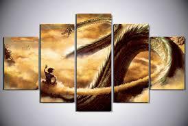 5 Piece Dragonball Canvas Wall Art Series II