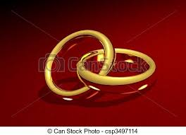 Linked Gold Rings Stock Illustration