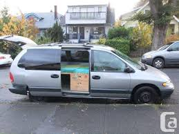 Vancouver British Columbia For Sale Dodge Grand Caravan 96 With Removable Camper Conversion