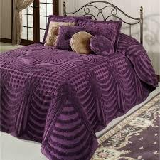 Purple Velvet King Headboard by Promenade Cotton Chenille Oversized Bedspreads
