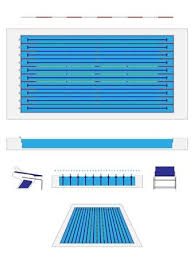 Olympic Size Swimming Pool Stock Vector