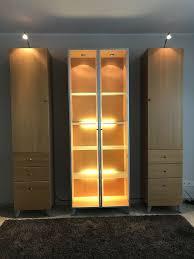 wohn esszimmer aus buche hülsta sideboard vitrine schränke
