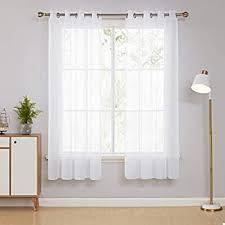 deconovo schlaufenvorhang voile vorhang vorhänge wohnzimmer