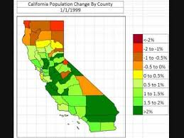 Map California Population Change By County