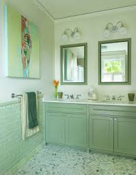 How To Design And Create The Lime Green Bathroom With Double Sink