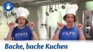 kinderlied mit gebärden backe backe kuchen how to leichter lautsprachunterstützend gebärden