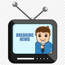 News Presenter Cartoon Journalist Clip Art