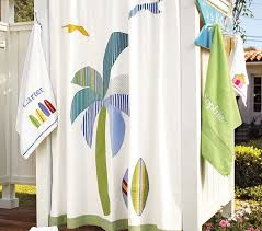 Pottery Barn Outdoor Curtains by Malibu Shower Curtain Pottery Barn Kids