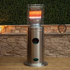 Lynx Gas Patio Heater by Outdoor Heater Hiland Tabletop Bronze Glass Tube Patio Heater