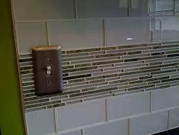install glass tile backsplash edge home design ideas
