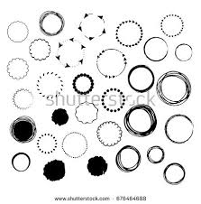 Hand Drawn Vector Set Graphic Black Stock Vector