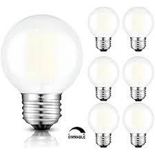 satco s9159 led g16 1 2 white 2700k medium base light bulb 1 4w