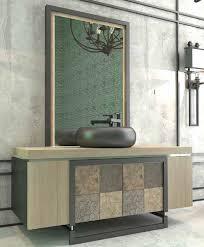 casa padrino luxus badezimmer set naturfarben mehrfarbig schwarz 1 waschtisch mit 4 türen und 1 waschbecken und 1 wandspiegel luxus qualität