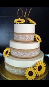 Sunflower Wedding Cakes Excellent Design Ideas Best 25 On Pinterest Country