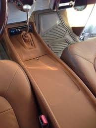 100 Ford Truck Center Console Custom Made Center Console For Ford F100 Wrapped In Leather Cars