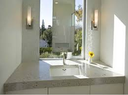 surprising wall mount lights marble sink in the bathroom with a