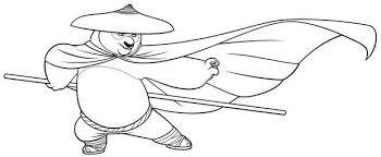 Po With A Mask Coloring Page Color Online Print