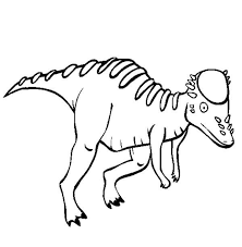 Free Dinosaur Coloring Pages Color In This Picture Of A Pachycephalosaurus And Others With Our Library Online