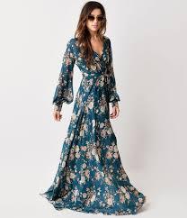 plus size retro style black u0026 floral sleeveless maxi dress 1970s