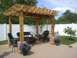 Diy Wood Patio Cover Kits by Outdoor Diy Pergola Home Depot Pergola Pergola Kits Costco