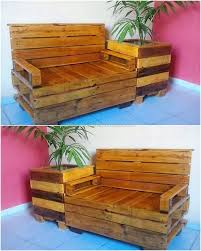 Wood Pallet Bench With Planter Rodete