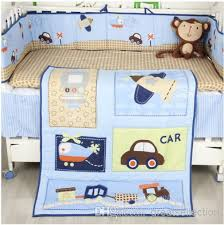 New Boy Baby Cot Crib Bedding forter Set Applique Cars Airplane